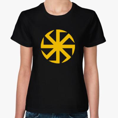Женская футболка Солнцеворот (Коловрат)