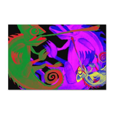 Наклейка (стикер) Хамелеоны