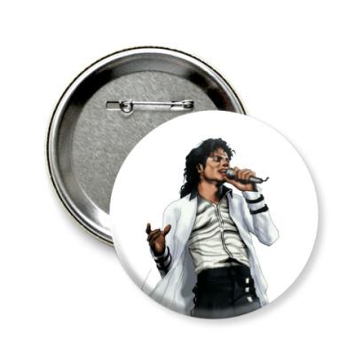 Значок 58мм Michael Jackson