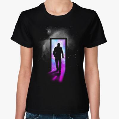 Женская футболка Вход в галактику