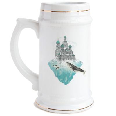 Пивная кружка Зимний Санкт-Петербург