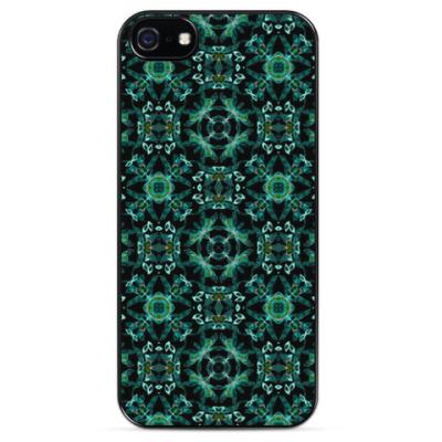 Чехол для iPhone Малахитовый дизайн
