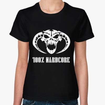 Женская футболка 100% Hardcore