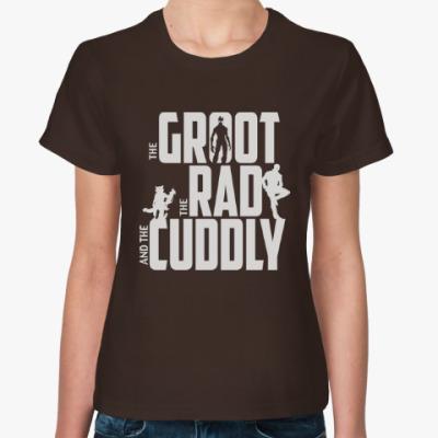 Женская футболка Грут, Рэд и Милый