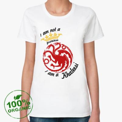 Женская футболка из органик-хлопка Khaleesi Игра престолов