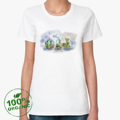Женская футболка из органик-хлопка Маленькая вселенная