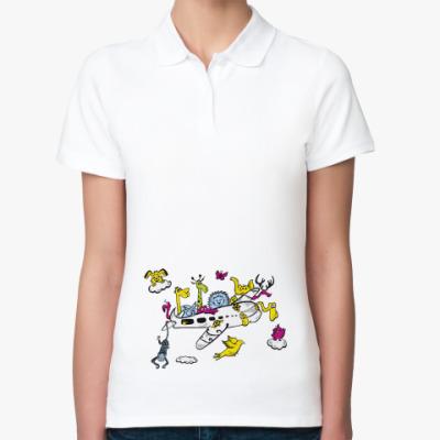 Женская рубашка поло Самолет  поло