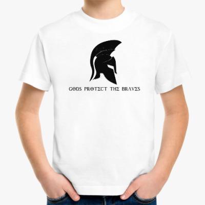 Детская футболка Gods protect the braves