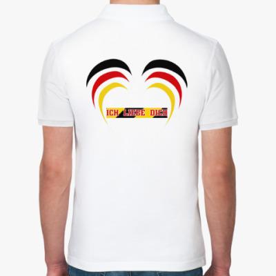Рубашка поло Я люблю тебя по-немецки