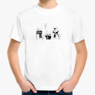Детская футболка  Коты
