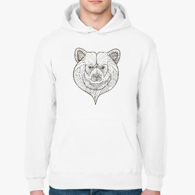 Толстовка худи Голова медведя