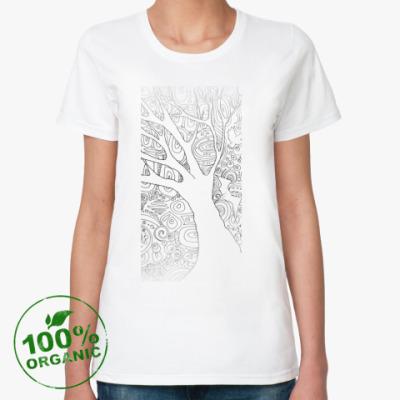 Женская футболка из органик-хлопка Дерево