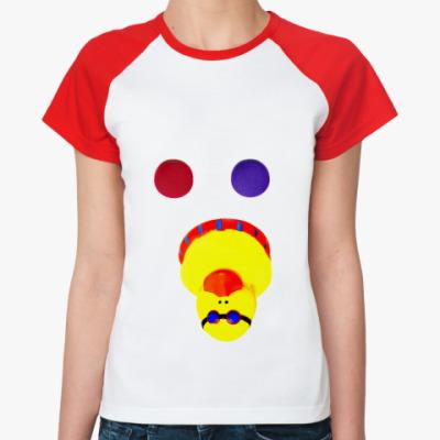 Женская футболка реглан Красную или синюю?