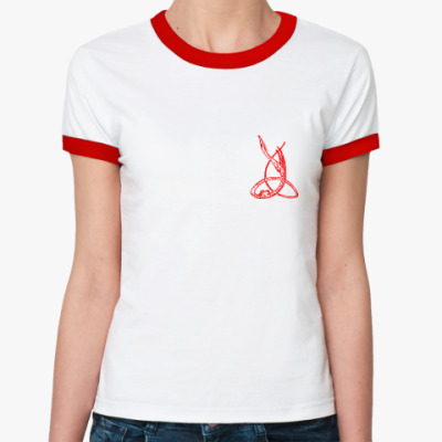 Женская футболка Ringer-T Дракон тринити