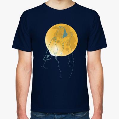 Футболка Волк воющий на луну