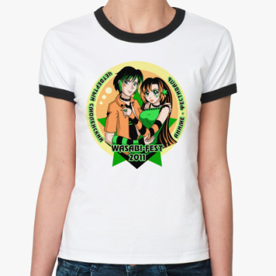 Женская футболка Ringer-T  WASABI-FEST 2011
