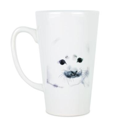 Чашка Латте Малыш тюлень