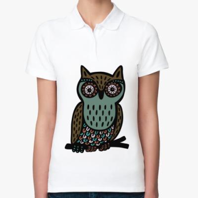 Женская рубашка поло Сова