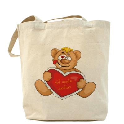 Сумка Медведь и сердце