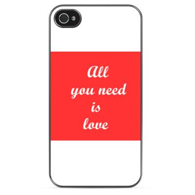 Чехол для iPhone All you need is love