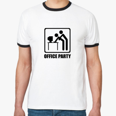 Футболка Ringer-T Office Party