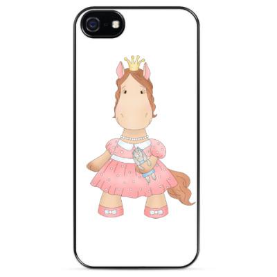 "Чехол для iPhone Чехол для iPhone 5 ""Лошадка принцесса"""