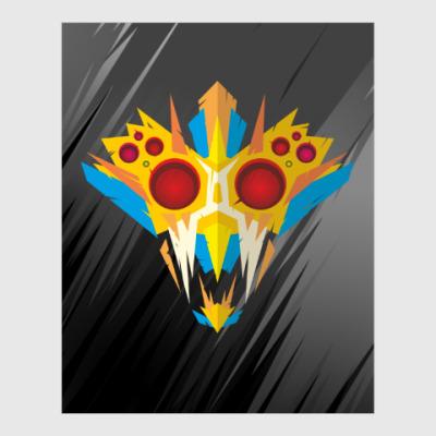 Постер Ритуальная маска воина