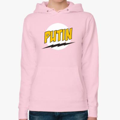 Женская толстовка худи Путин в стиле Базинги