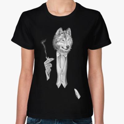 Женская футболка Мистер Волк