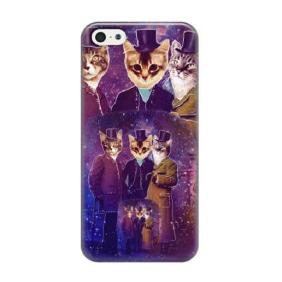 Чехол для iPhone 5/5s Три космических кота