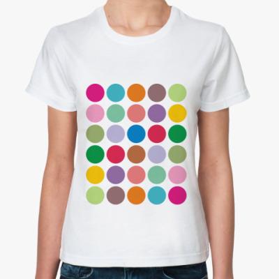 Классическая футболка Цветной горох