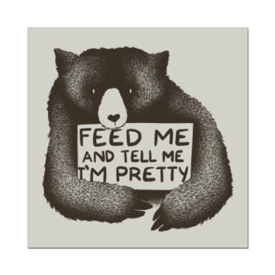 Наклейка (стикер) Покорми меня
