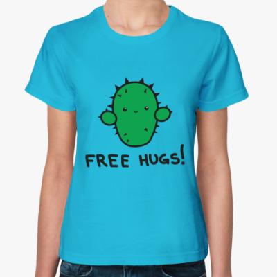 Женская футболка   Free hugs