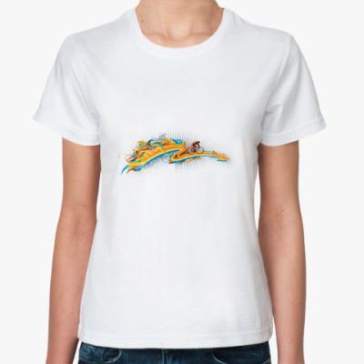Классическая футболка  Арт радуга.
