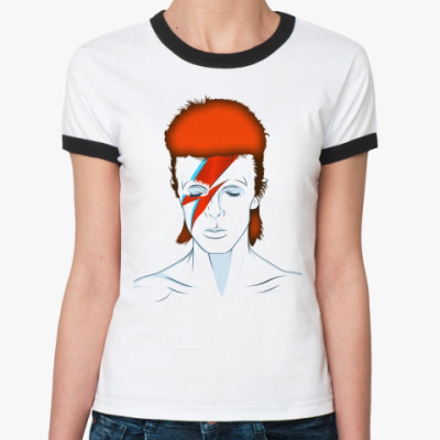 Женская футболка Ringer-T David Bowie