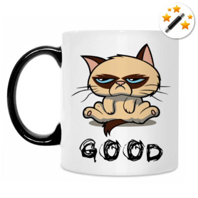 Кружка-хамелеон Недовольный кот ( Grumpy cat )