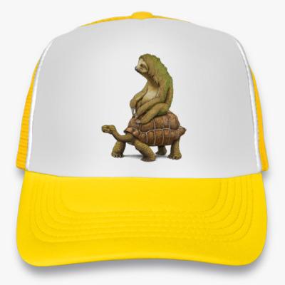 Кепка-тракер Ленивец на черепахе