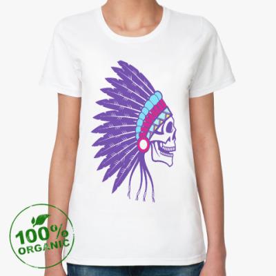 Женская футболка из органик-хлопка Индеец