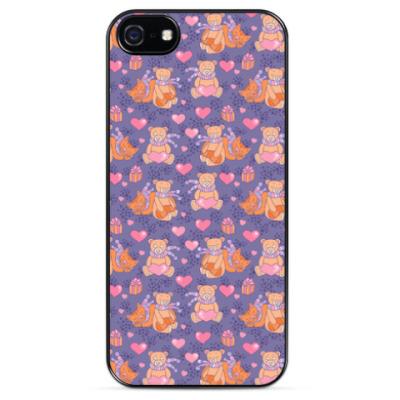 Чехол для iPhone Мишки и котики