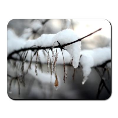 Коврик для мыши Ветки в снегу
