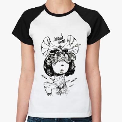 Женская футболка реглан  Suis La Lune