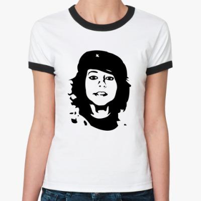 Женская футболка Ringer-T   Che Boxxy