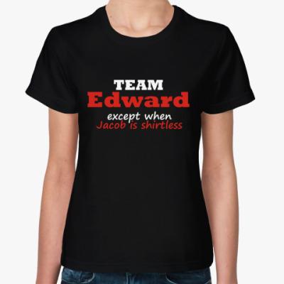 Женская футболка Эдвард