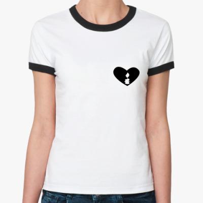 Женская футболка Ringer-T Свеча