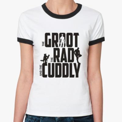 Женская футболка Ringer-T Грут, Рэд и Милый