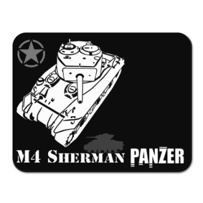 Коврик для мыши Американский танк M4 Sherman
