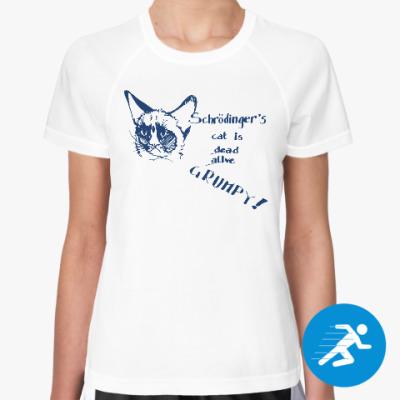 Женская спортивная футболка Кот Шрёдингера