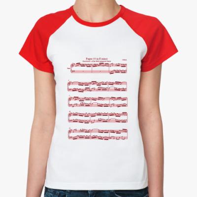 Женская футболка реглан Fugue