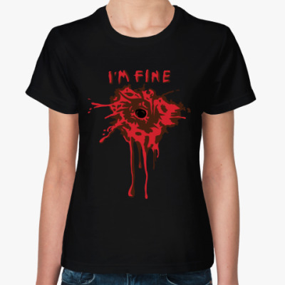 Женская футболка I'm fine
