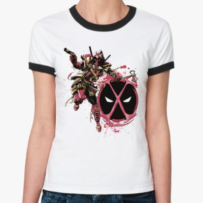 Женская футболка Ringer-T Deadpool Assassin